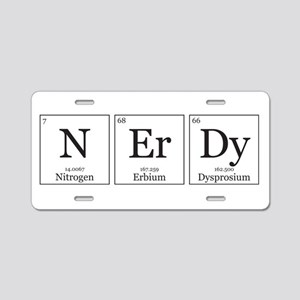NErDy [Chemical Elements] Aluminum License Plate